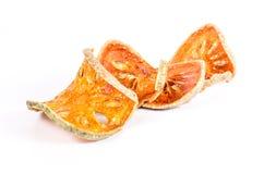 Wysuszona bael owoc na białym tle Zdjęcie Royalty Free