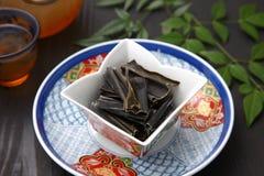 Wysuszona denna gmatwanina dla Japońskiego zupnego zapasu Zdjęcie Royalty Free