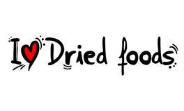 Wysuszona foods miłości wiadomość ilustracji