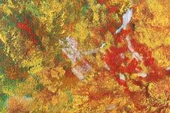 Wysuszona nafciana farba na kanwie Zdjęcie Royalty Free