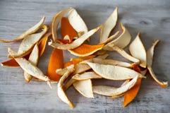 wysuszona pomarańczowa łupa obraz royalty free