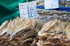 wysuszona rybia sprzedaż Fotografia Royalty Free