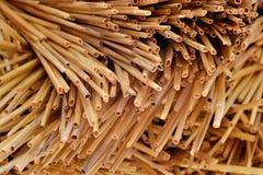 Słomiany tekstury tło Zdjęcia Stock