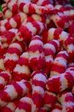 Wysuszone czerwieni i białych fałszywe garnele, owoce morza zdjęcia royalty free