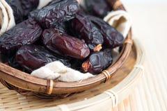Wysuszone daktylowej palmy owoc lub kurma Zdjęcia Stock