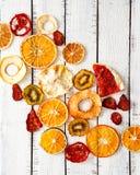 Wysuszone owoc, żywność organiczna, wysuszona pomarańcze Zdjęcia Royalty Free