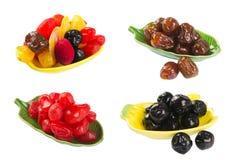 Wysuszone owoc na tle Obraz Royalty Free