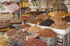 Wysuszone owoc w Targowym souk w Fes, Maroko Fotografia Stock
