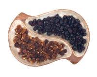 Wysuszone złote jagody i cali wysuszeni cranberries Fotografia Stock