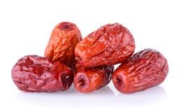 Wysuszonej czerwieni daktylowa lub Chińska jujuba Zdjęcia Stock