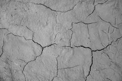 Wysuszonej krakingowej ziemi ziemi tekstury zmielony tło Obraz Royalty Free