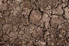 Wysuszonej krakingowej ziemi ziemi tekstury zmielony tło Zdjęcia Stock