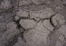 Wysuszonej krakingowej ziemi ziemi tekstury zmielony tło Mozaika wzór pogodna wysuszona ziemi ziemia Zdjęcie Stock