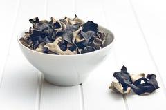 Wysuszony chiński czarny grzyb Galaretowy ucho obraz royalty free