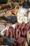wysuszony francuza rynku mięsa kram Fotografia Stock