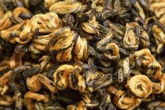 Wysuszony herbacianych liści zbliżenie jako tło Fotografia Royalty Free
