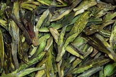 Wysuszony herbacianych liści zbliżenie jako tło Obrazy Royalty Free