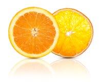 Wysuszony i świeży pomarańczowy owocowy plasterek Fotografia Royalty Free