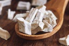 Wysuszony i pokrojony marshmallow korzeń fotografia royalty free