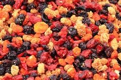 Wysuszony jagody owoc tło Obrazy Stock