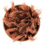 Wysuszony jedwab, czerwoni bawełna kwiaty/ Obraz Royalty Free