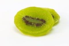 Wysuszony kiwi odizolowywający na białej, wysuszonej kiwi owoc, Obrazy Stock