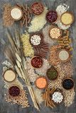 Wysuszony Makrobiotycznej diety zdrowie jedzenie obrazy stock