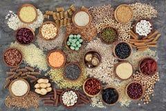 Wysuszony Makrobiotycznej diety zdrowie jedzenie zdjęcie stock