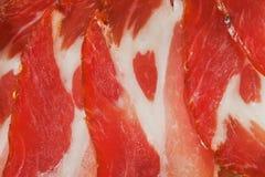 Wysuszony mięso świezi plasterki Zdjęcie Royalty Free