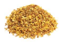 Wysuszony osmanthus kwitnie herbaty obraz royalty free