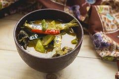 Wysuszony rybi czerwony curry Fotografia Royalty Free