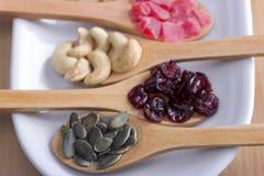 Wysuszony Super zdrowia jedzenie fotografia stock