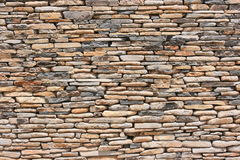 wysuszyć deseniową kamienną ścianę Zdjęcia Royalty Free