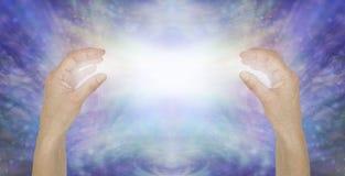 Wysyłać czystej bezwarunkowej miłości leczniczą energię ilustracja wektor