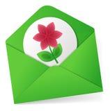 Wysyłać kwiatu ilustracja wektor