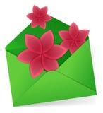 Wysyłać kwiaty royalty ilustracja
