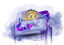 Wysyłać list ilustracja wektor