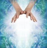 Wysyłać out kochający Chi Ki Qi Prana energię Fotografia Stock
