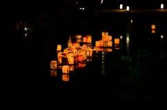 Wysyłać w dół papierowych lampiony, Kyoto Japonia Obraz Royalty Free