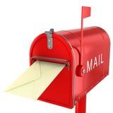 Wysyła list w skrzynce pocztowa Zdjęcia Stock