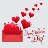 Wysyła miłości serce w walentynki royalty ilustracja