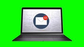 Wysyłali mnóstwo emaili skrzynka pocztowa SPAMA pojęcie zielony ekran 71 zbiory wideo