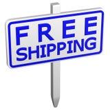 Wysyłka bezpłatny znak świadczenia 3 d Zdjęcia Royalty Free