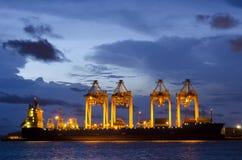 Wysyłka przemysłowy Port Obrazy Stock