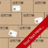 Wysyłka sztandar Z pakuneczkami Zdjęcie Stock