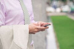 Wysylanie SMS Obrazy Stock