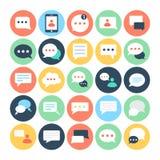 Wysylanie SMS Płaskie Wektorowe ikony 2 ilustracja wektor