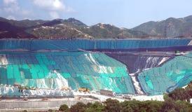 Wysypiska miejsce w odpady Energetycznej transformaci park zdjęcia stock