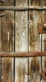 Wyszczególnia antykwarskiego drzwi dla tło i tekstur, kościół Santa marÃa de Porqueres Obraz Stock