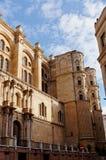 Wyszczególnia architekturę Hiszpański miasto Malaga Obraz Royalty Free
